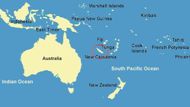 New Caledonia map